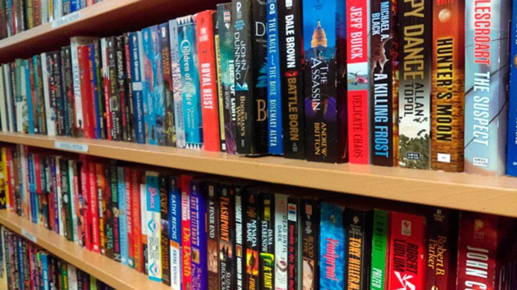 Bookshelf, full of books